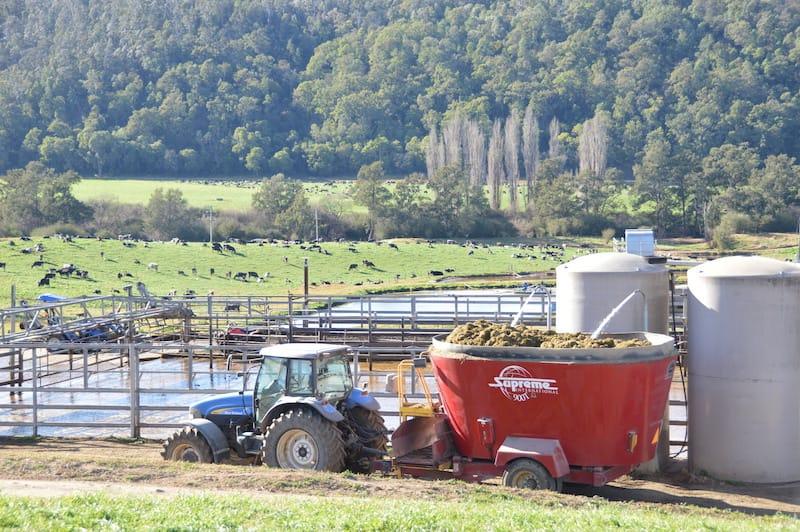 Mixer wagon at Cedar Grove dairy farm