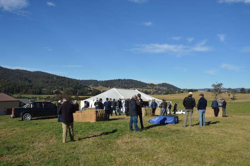 Symposium attendees enjoying the farm day