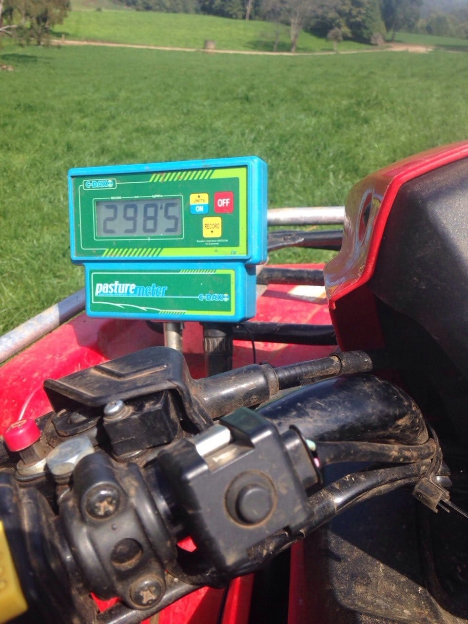 Measuring Pre Grazing Pasture Cover With CDax